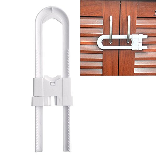 Cabinet Locks Safety Gear - U-Cabinet Locks Baby Safety Lock Cabinet Drawer Wardrobe Doors Fridge Toilet Drawers Cupboard Shape - Whorl Storage Locker Mesh Console Curl - (Hon Desk Locks)