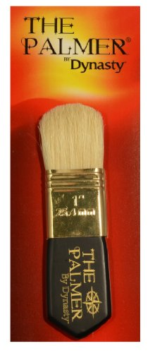 Dynasty Palmer Brush White Bristle 1In ()