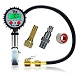 Tire Pressure Gauge Inflator - 200 PSI - Pro Auto Gadgets Digital Tire Inflator/Deflator - For Car Truck Tractor Bike and Motorcycle - Air Pressure Gauge With Accurate Reading