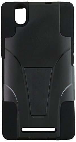Zizo ZTE ZMax Hybrid PC/SC Combo Cover with Kickstand - Retail Packaging - Black