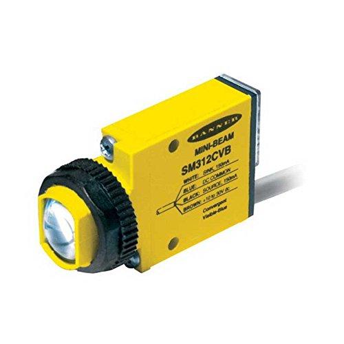 Banner SM2A312LPQD Mini-Beam Polarized Retroreflective Photoelectric Sensor 10 mm - 3 m Sensing Range SPST SCR Solid-State Relay Output