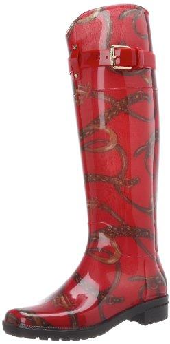 Lauren Ralph Lauren Women's Rossalyn II Rain Boot Red/Lauren Tan