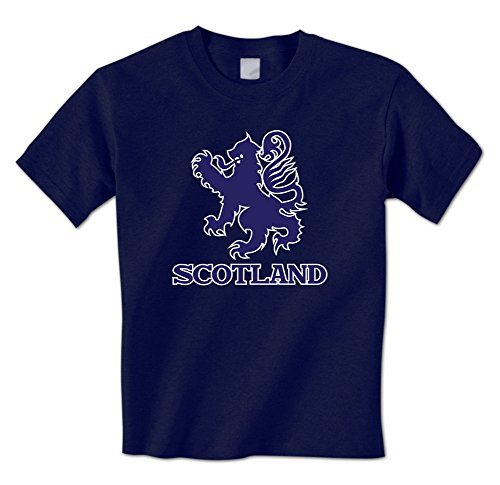 (Scotland Royal Lion Coat of Arms King of Scots Emblem Scottish Mens T-Shirt (XXL Navy))