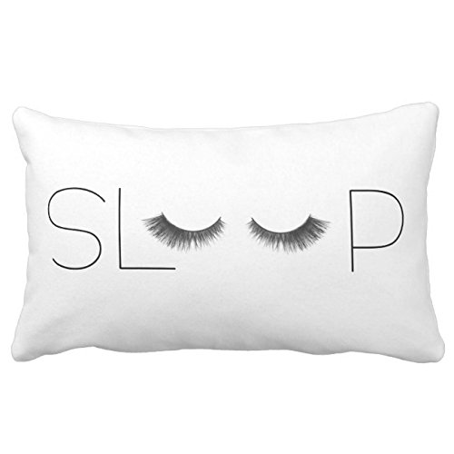 UOOPOO Trendy Beauty Sleep Decorative Throw Pillow Case Square 12 x 16 Inches Soft Cotton Canvas Home Decorative Wedding Cushion Cover for Sofa and Bed One Side