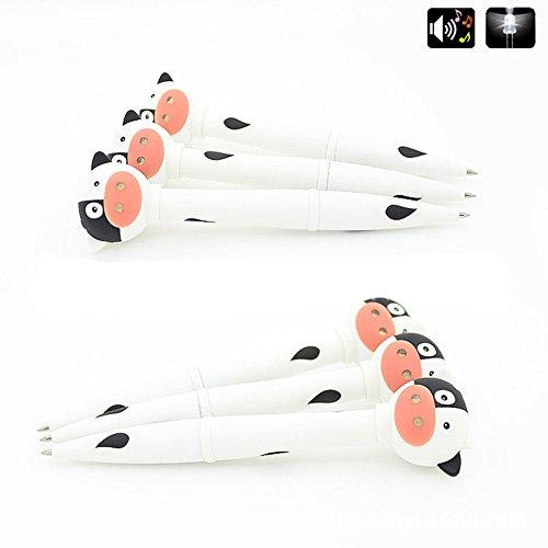 Creative Cow Duck Giraffe Electronic Pen LED Light Animal Sound Kids Pen Gift - Cow zsjhtc by zsjhtc (Image #3)