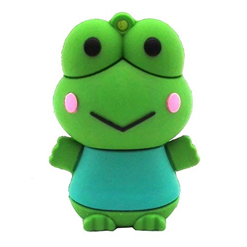 Aneew 16GB Cartoon Animal Frog USB Flash Drive Memory Thumb Stick Pendrive (Flash Frog Drive)