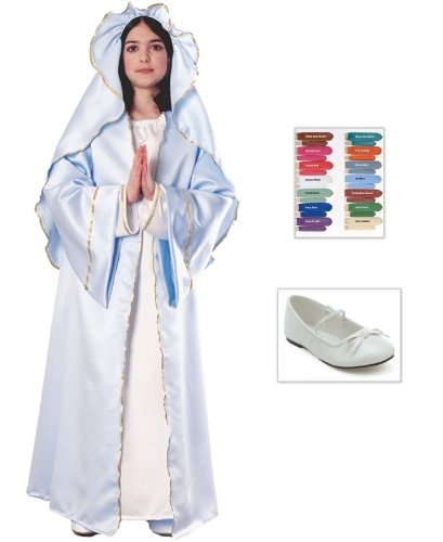 Mary Child Costume: Makeup Disguise Stix, Ballet Child Shoes (Disguise Stix)