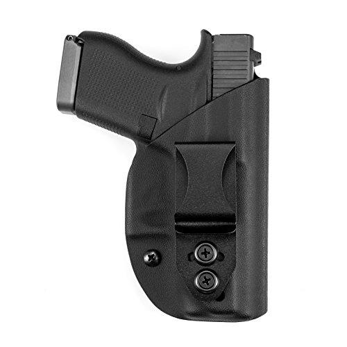 Hk Usp Compact Holster - LightTuck IWB Kydex Holster - H&K USP 9mm Compact, Black Holster with Black C...