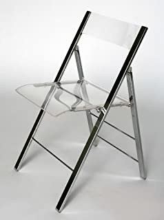 Baxton Studio Acrylic Foldable Chair, Medium