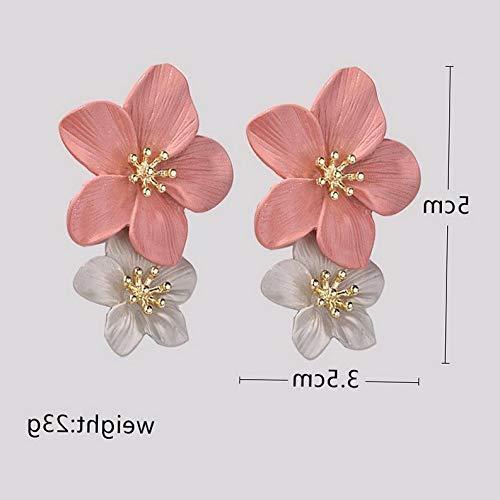Model ERRNGS 27649 Monowi Women Elegant Flower Crystal Rhinestone Tassel Stud Earrings Wedding Jewelry Hot
