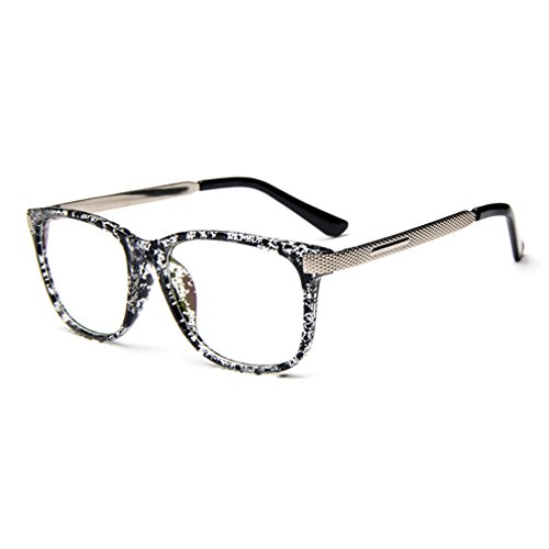 G&T Retro Fashion Men Womens Can Match Glasses Myopia Metal Leg Plain Casual - Occ Sunglasses