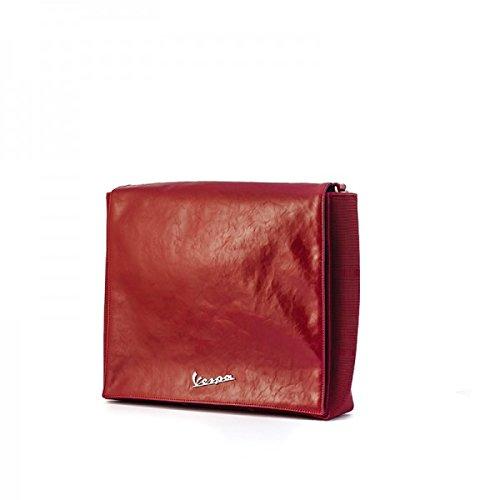 Vespa große Schultertasche VPSC46 rot/blau inklusive Tablet Tasche