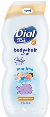 Dial Kids Body+Hair Wash, Peachy Clean, 12 Oz (Pack of 2) by Dial