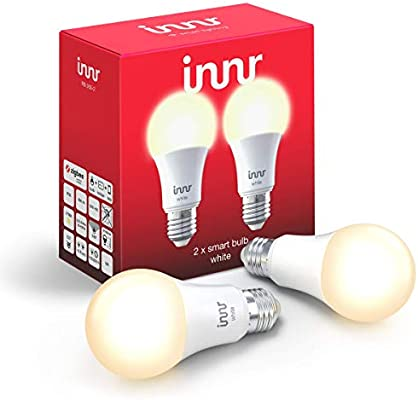 Innr E27 - Bombilla LED inteligente, luz blanca cálida, regulable (compatible con Philips Hue* & Echo Plus) RB 165, Blanco, E27, 9.00W 230.00V