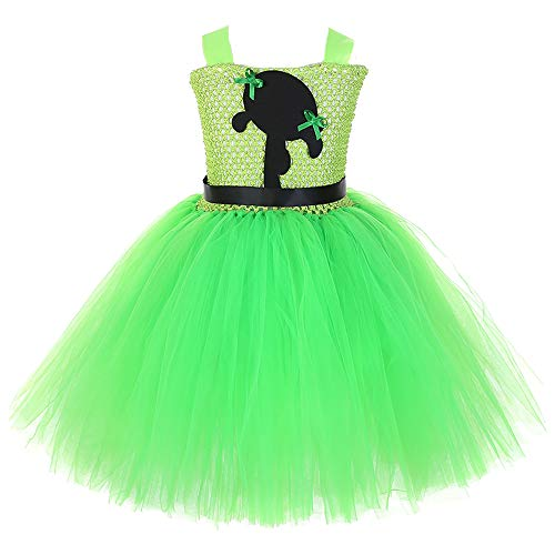 AQTOPS Powerpuff Girl Buttercup Outfits Supergirl Role Play Costumes Small Green ()
