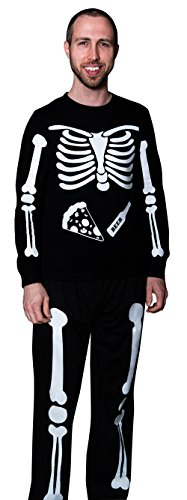 X-Ray Skeleton Beer & Pizza DIY Halloween Costume Full Body Iron On]()