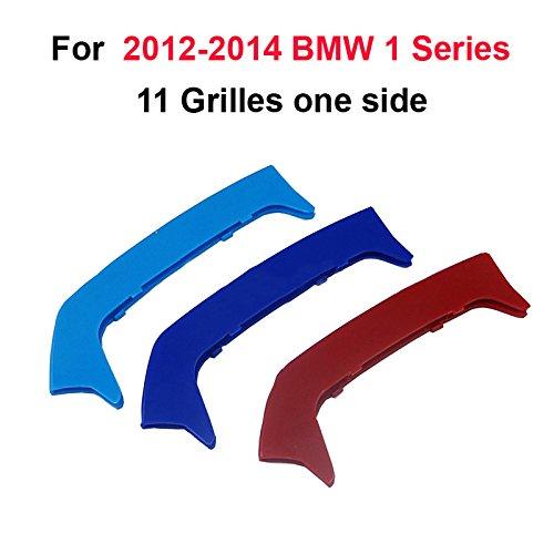 11griglie M Performanc 3D Griglia Anteriore Trim Striscia Adesivi Grill Clip Cover Trim Reni Griglia 3 Pezzi Per 12-14 1 Serie