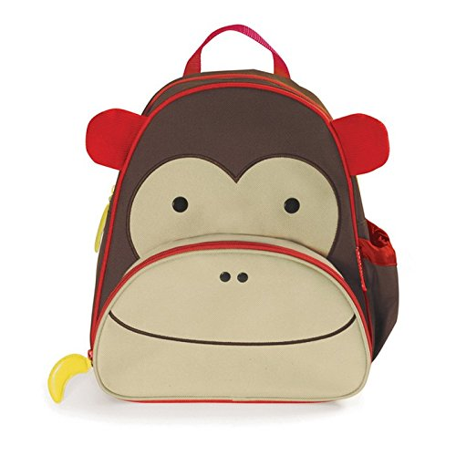Toddler Boys Monkey (Skip Hop Zoo Toddler Kids Insulated Backpack Marshall Monkey Boy, 12-inches, Brown)