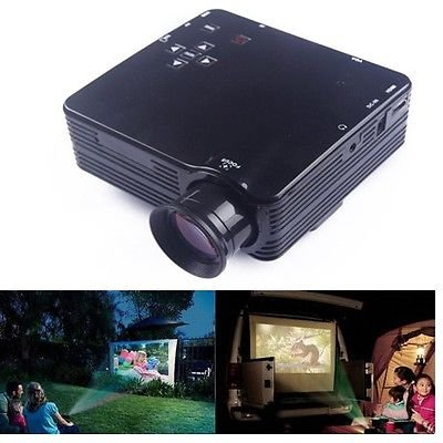 Lightinthebox Home Theater Multimedia LED LCD Projector HD 1080P HDMI PC AV DVD Playstation