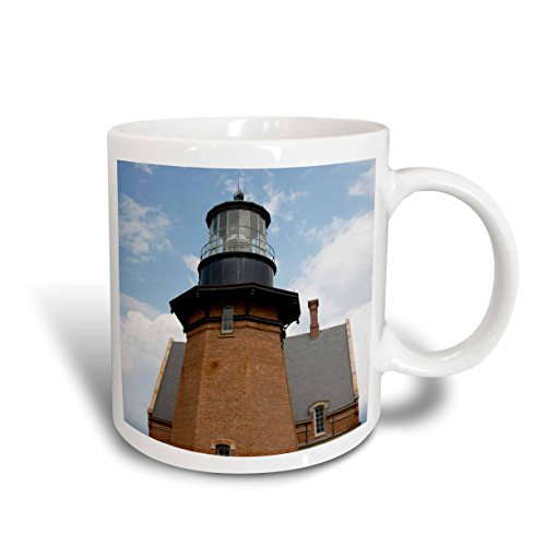 3dRose mug_190226_2 USA, Rhode Island, Block Island, Mohegan Bluffs, Southeast Lighthouse Ceramic Mug, 15-Ounce