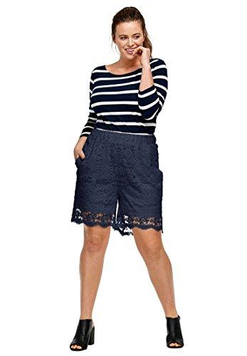 Ellos Women's Plus Size Crochet Lace Shorts (Lace Woven Shorts)