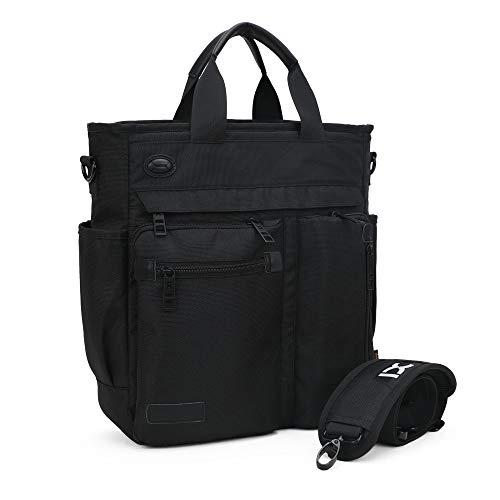 IBTXO Crossbody Messenger Bag for Men/Multifunction Shoulder Bag/Business Laptop Bag/College School Bookbag (Black-big size) ()