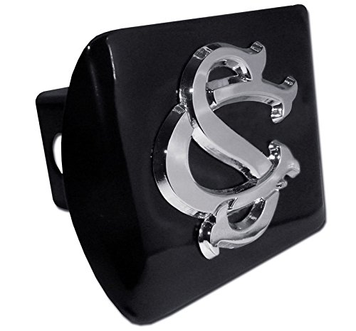 AMG University of South Carolina Metal Interlocking SC Emblem on Black Metal Hitch Cover