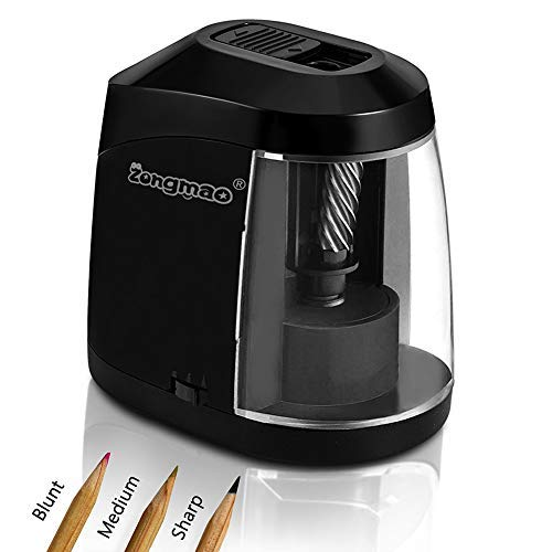 Haisito Pencil Sharpener, USB or Battery Operated Auto Adjustable Heavy Duty Helical Blade Electric Sharpeners for No.2 or Colored Pencils, Portable for Artist Kids Teachers Office