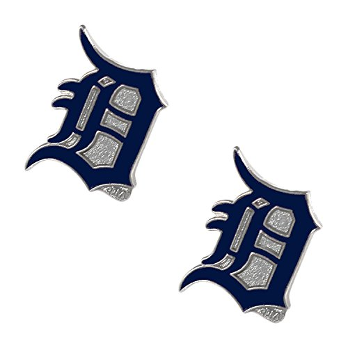 MLB Detroit tigers Sports Team Logo Post Stud Logo Earring Charm Gift Set -