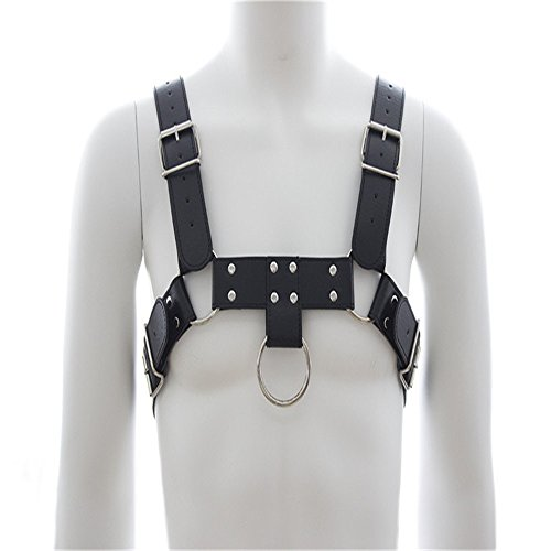 [Men's Chest H Bulldog Harness 4 Straps Clubwear Costumes] (Plus Size Ring Mistress Costumes)