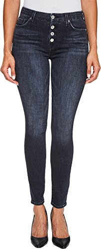 7 For All Mankind Women's The HW With Exposed Button Fly, Authentic Black, 31 (All Jeans Fly Button Seven Mankind For)