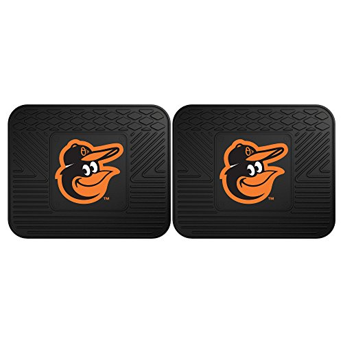 CC Sports Decor MLB Baltimore Orioles Heavy Duty Rear Car Floor Mats, 2-Piece -