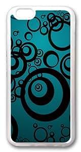 Black Circles Custom iPhone 6 Case Cover TPU Transparent