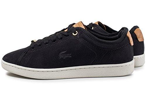 Lacoste Carnaby Evo Damen Sneaker Schwarz schwarz / braun