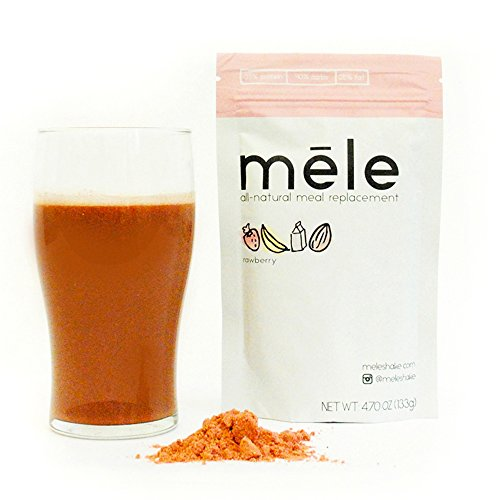 Mele, All-Natural Meal Replacement, Rawberry // 500 calories // NO ADDED SUGAR, NON-GMO, NO SOY, NO PRESERVATIVES, NO TRANS (Full Meal Replacement)
