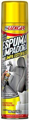 Espuma Limpadora Limpa Estofados Spray Luxcar 400 Ml