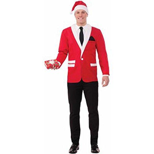 Forum Novelties Men's Standard Simply Suited Jacket & Hat, red, Extra Large
