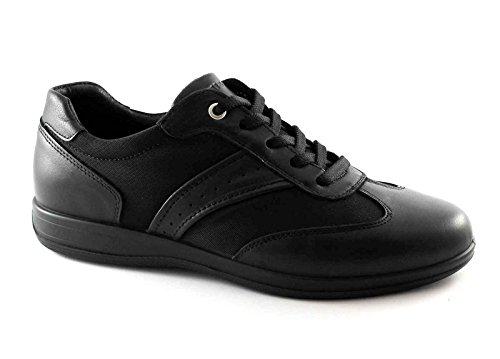 IGI & CO 76723 cuero cordones deportivos Zapatos negros de los hombres elegantes Nero