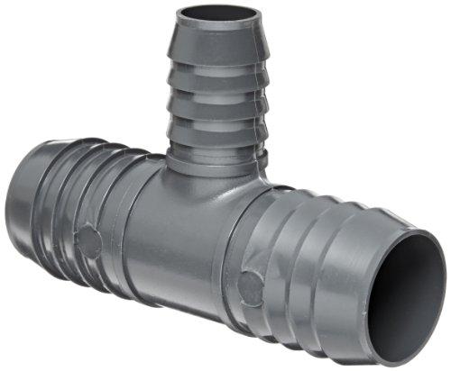 Schedule 40 Tee (Spears 1401 Series PVC Tube Fitting, Tee, Schedule 40, Gray, 1-1/2