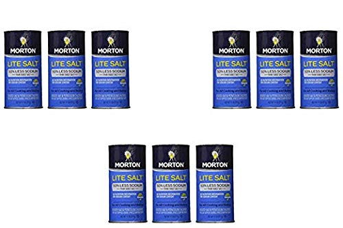 Morton Salt Lite Salt, Less Sodium, 11 oz (Pack of 3) (3 Pack)