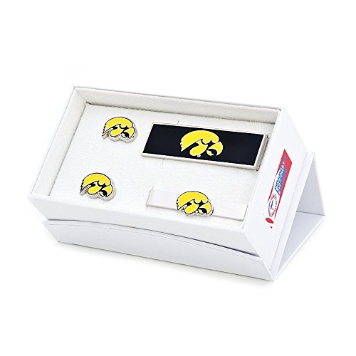 NCAA Mens Iowa Hawkeye 3-Piece Gift Set by Cufflinks