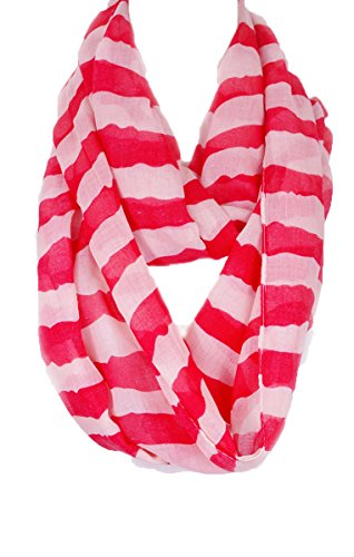 Candy Stripe Infinity Scarf (Red)