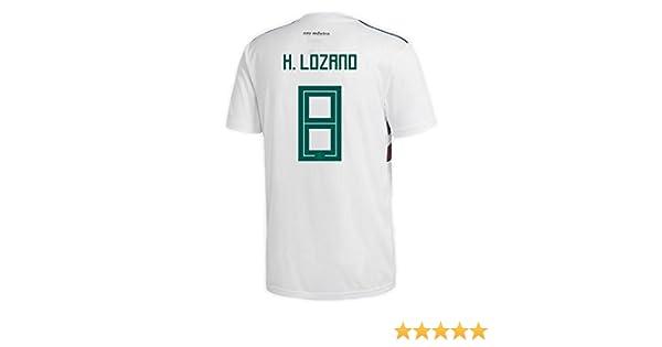 b0706a6b7 Amazon.com   adidas H. Lozano  8 Mexico Away Men s Soccer Jersey World Cup  Russia 2018   Sports   Outdoors