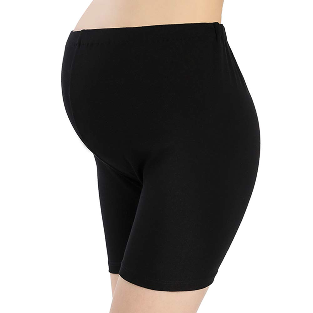 QingWan Women Under Dress Pregnancy Short Leggings Yoga Maternity Shorts Over The Belly