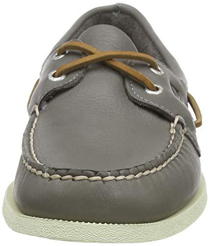 Sperry Men's A/O 2-Eye Leather Sneaker, Grey, 9 Medium