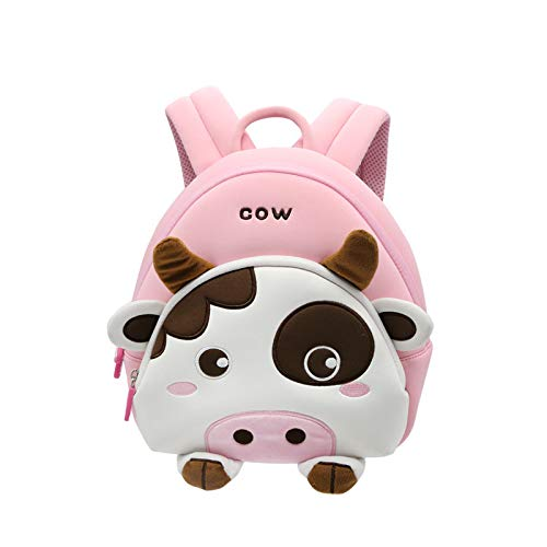 NOHOO 3D Little Kids Backpack Cute Preschool Toys Bag Best Gift for Toddlers (cow)