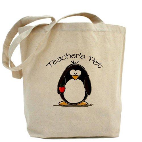 CafePress–Teachers Pet pingüino–Gamuza de bolsa de lona bolsa, bolsa de la compra