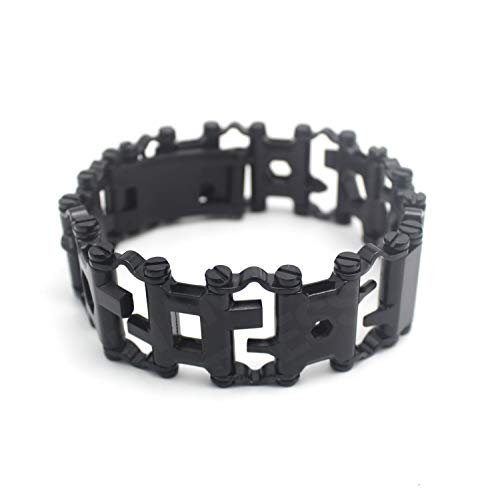 - Diamond Survival Multitools Bracelet Black, Travel Friendly Wearable Multitool