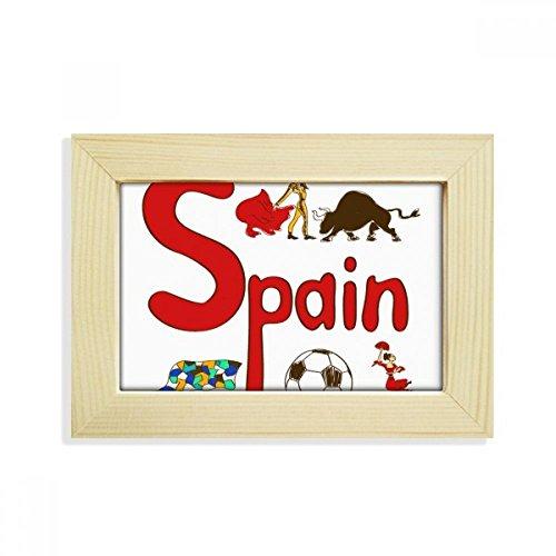 DIYthinker Spain National symbol Landmark Pattern Desktop Wooden Photo Frame Picture Art Painting 5x7 inch by DIYthinker