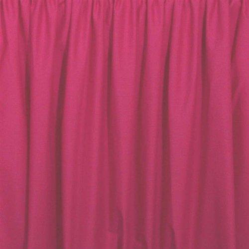 Extra Long 21 inch Cribskirt, Crib Dust Ruffle Color: Hot Pink